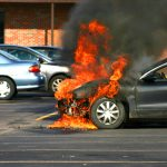 Closer,Look,At,A,Car,On,Fire.